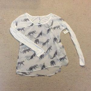 Aeropostale Cheetah Long Sleeve Shirt